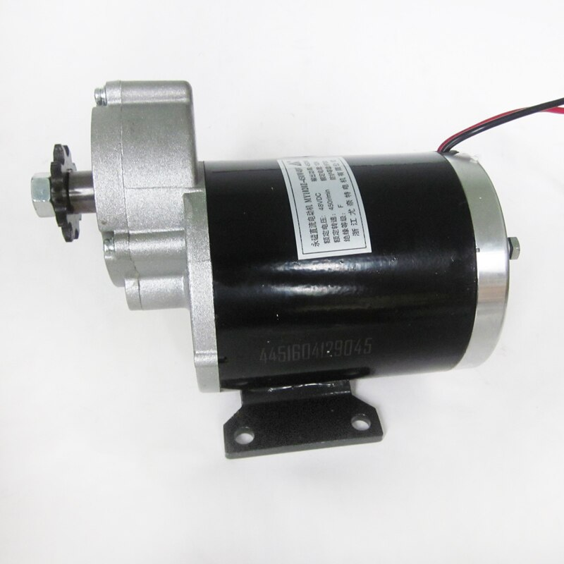 450w 24v 36v 48v motor da engrenagem triciclo eletrico do motor da escova motor escovado