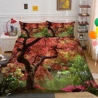 3d bed set luxury bedding sets 23 pcs bedclothes natural scenery print fashionable king full double size