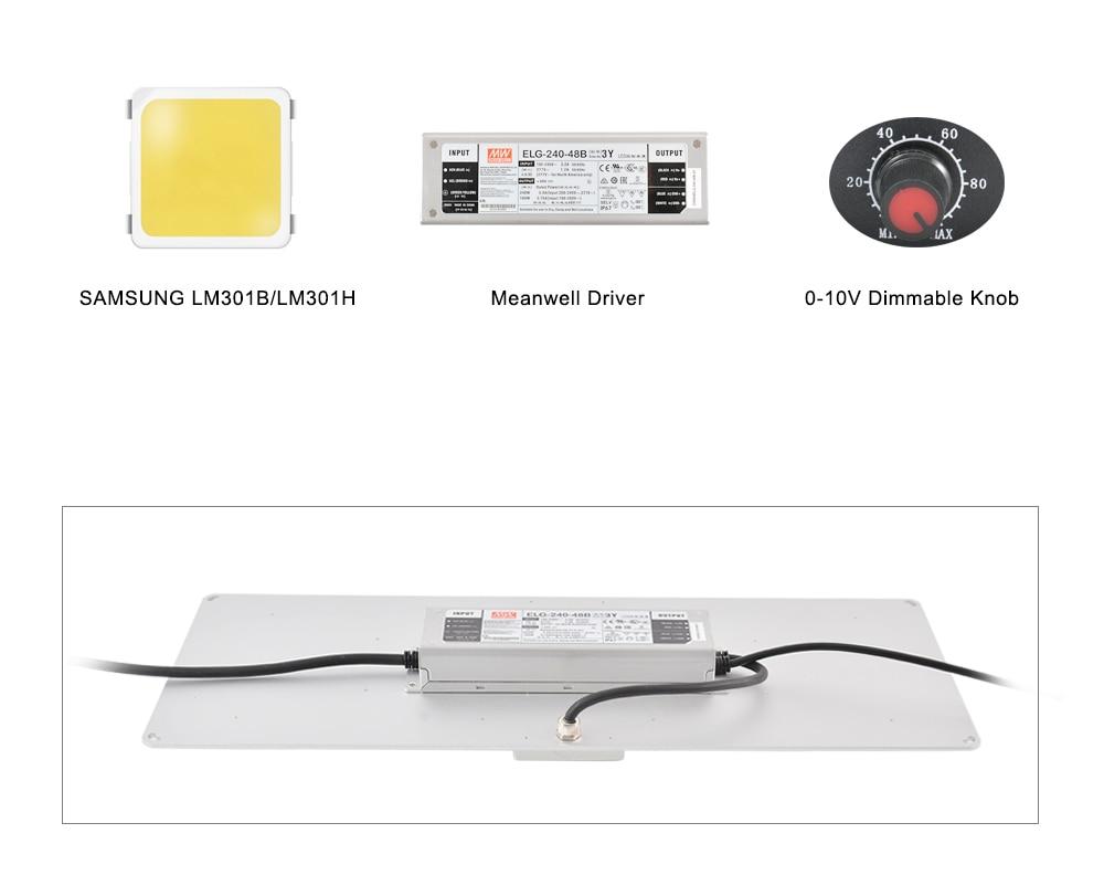 Grow Light 240W Samsung LM301H Osrm 660nm UV IR Veg Switch full spectrum led grow light enlarge