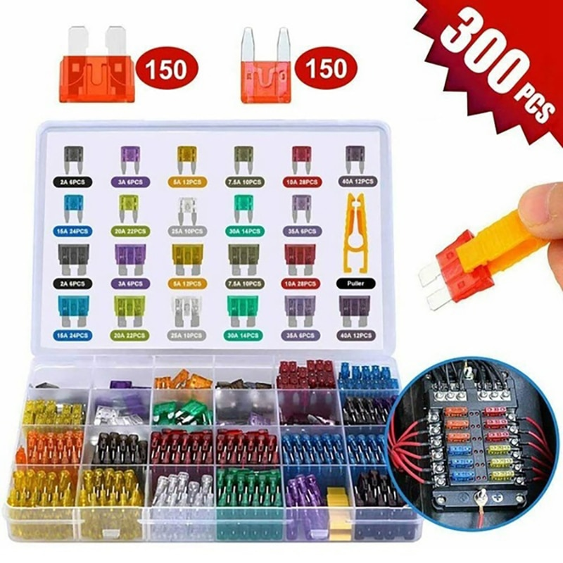 300/120/60Pcs Truck Blade Car Fuse Kit The Fuse Insurance Insert Auto Accessorie