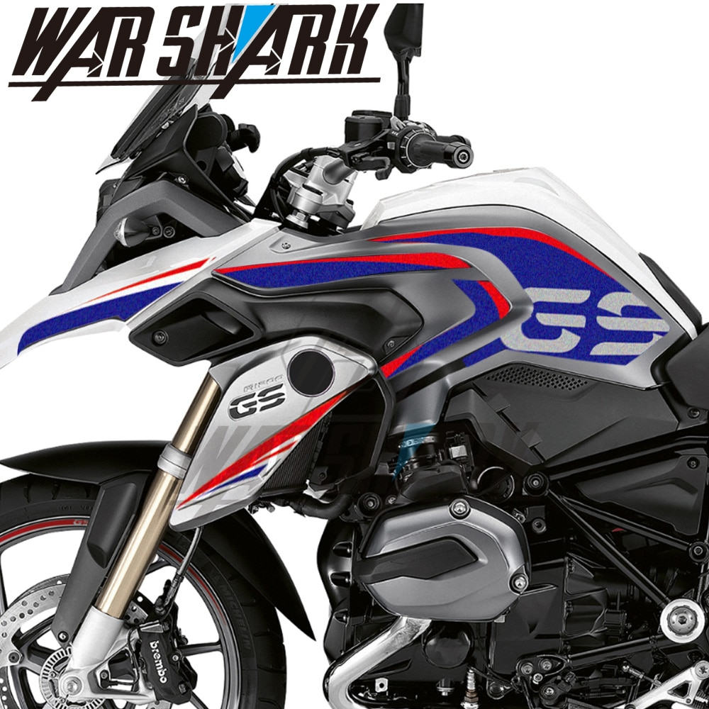 new motorcycle stickers body reflective waterproof body fuel tank logo sticker kit set for bmw hp4 hp 4 sign decal Motorcycle Decals Decoration Fuel Tank Body Protection Sticker For BMW R1200GS R1200 GS LC 2013-2018 2016 2017 Reflective Film