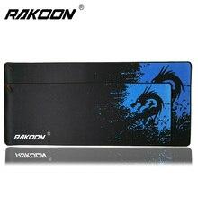 Rakoon 30x80cm 40x90cm Large Gaming Mouse Pad Blue Dragon Lock Edge Desktop Computer Mousepads Mat for CSGO Dot 2 Lol Gamer