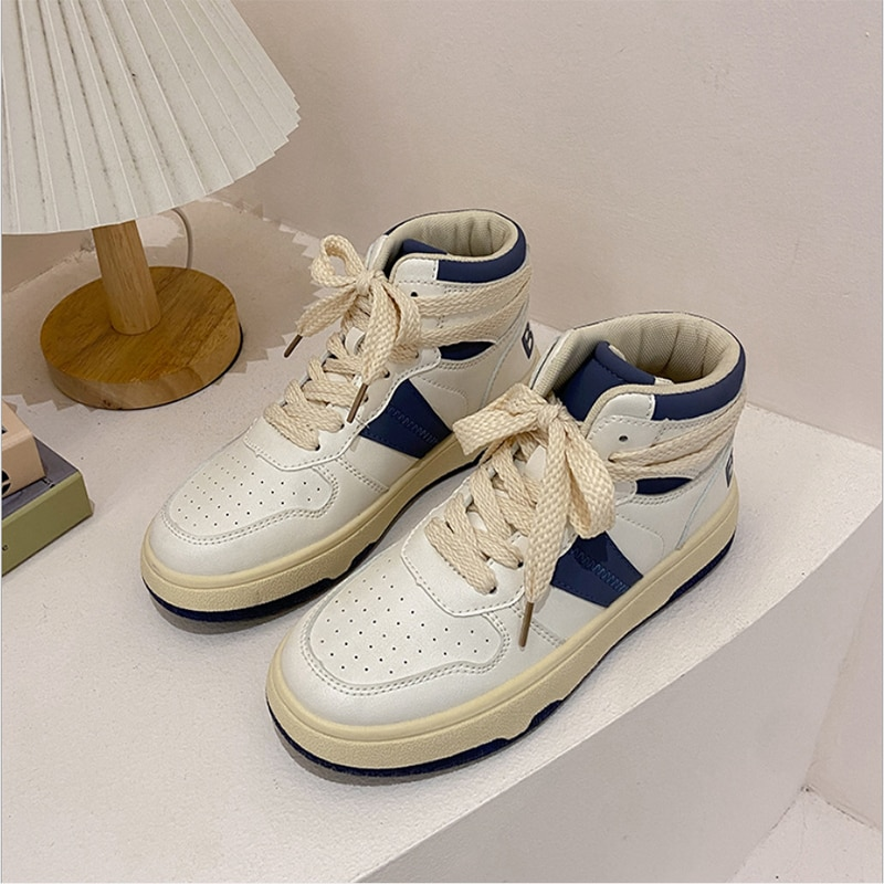 2021 Autumn And Winter New High-Top White Shoes Women Korean Daily Student Running Casual Shoes Wome