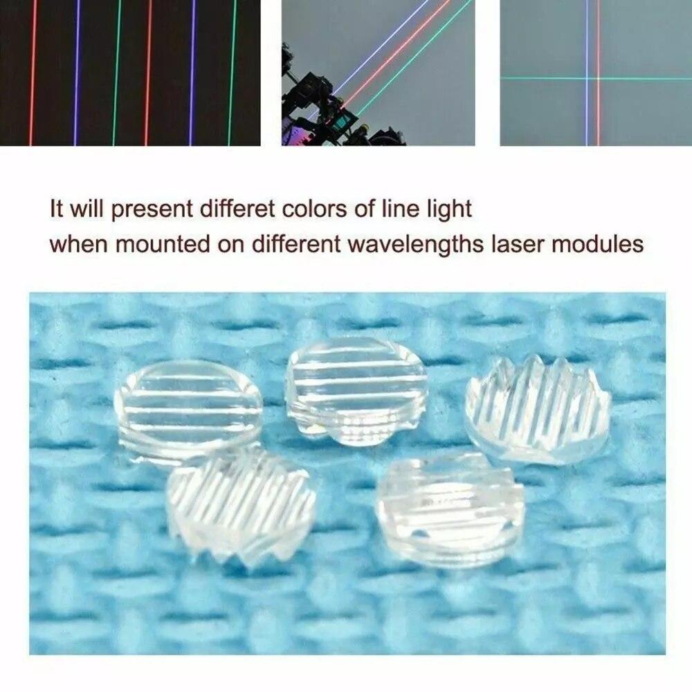 10 шт. Линия лазер линза для 405 нм 450 нм 532 нм 650 нм 780 нм 808 нм 980 нм RGI лазеры линия луч пластик 30% 2F45% 2F60% 2F90% 2F120 дополнительно
