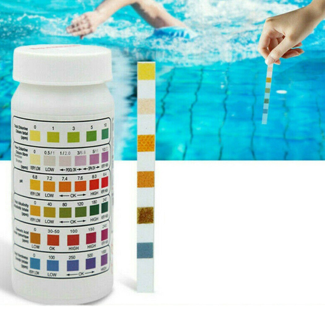 50Pcs Multipurpose Chlorine PH Test Strips SPA Swimming Pool Water Quality Tester Paper 6 In 1 Hardness 2 in 1 chlorine tester water quality ph