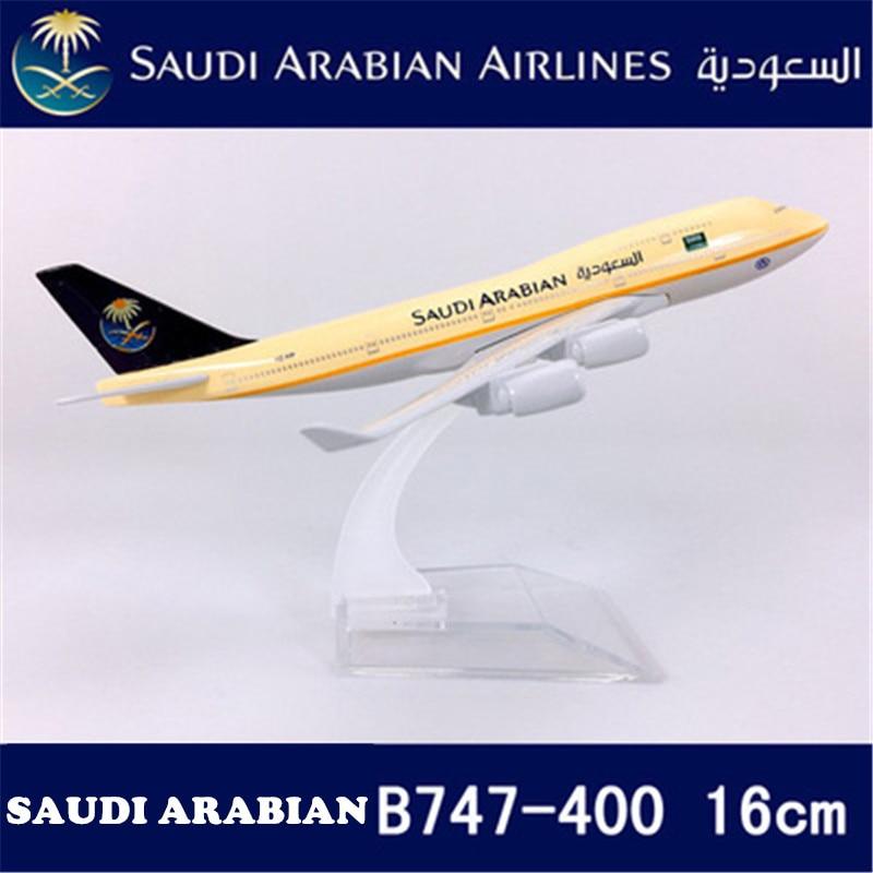 Alloy Metal Air Saudi Arabian B747 Airlines Airplane Model Ireland 330 Airways Plane Model Stand Aircraft Kids Gifts 1
