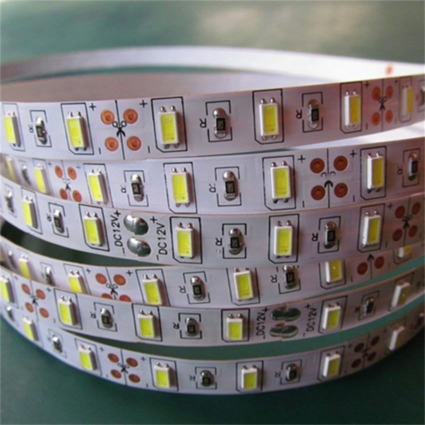 Free Shipping Hight brightness flexible led Rope 24v SMD5630 5730 Led Strip 24V 60led/m IP20 3 years warranty enlarge