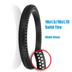 Pneu sólido não pneumático 16*1.50, pneu sólido à prova de explosão, pente de mel de 16*1.75