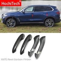 באיכות גבוהה עבור BMW x5 G05 M50i xDrive40i 2019 2020 אביזרי רכב סיבי פחמן אוטומטי דלת ידית ידית חיצוני לקצץ מכסה