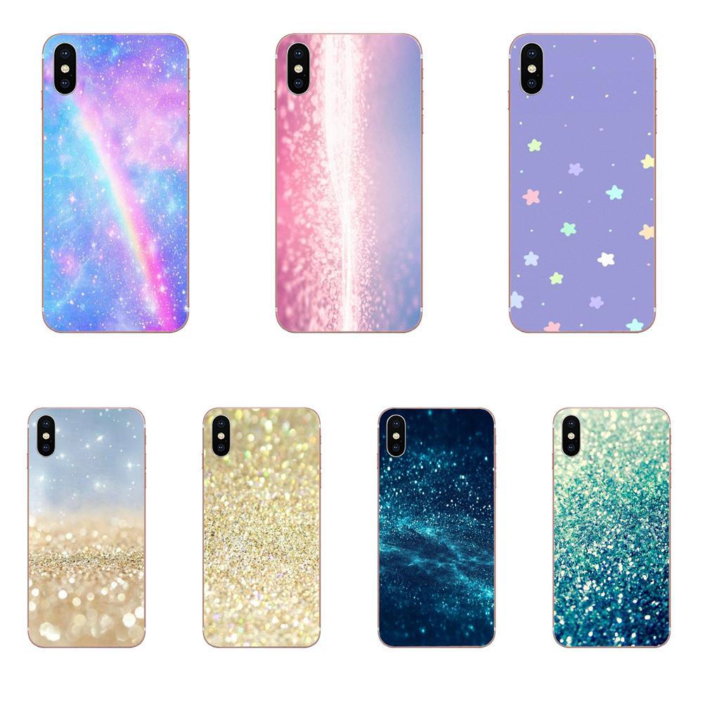 Decoración Kawaii con purpurina brillante Pastel para Xiaomi CC9 CC9E Mi 3 4 4i 5 5S 6 6X 8 9 SE Play Plus Pro Lite A1 Mix 2 Note 3