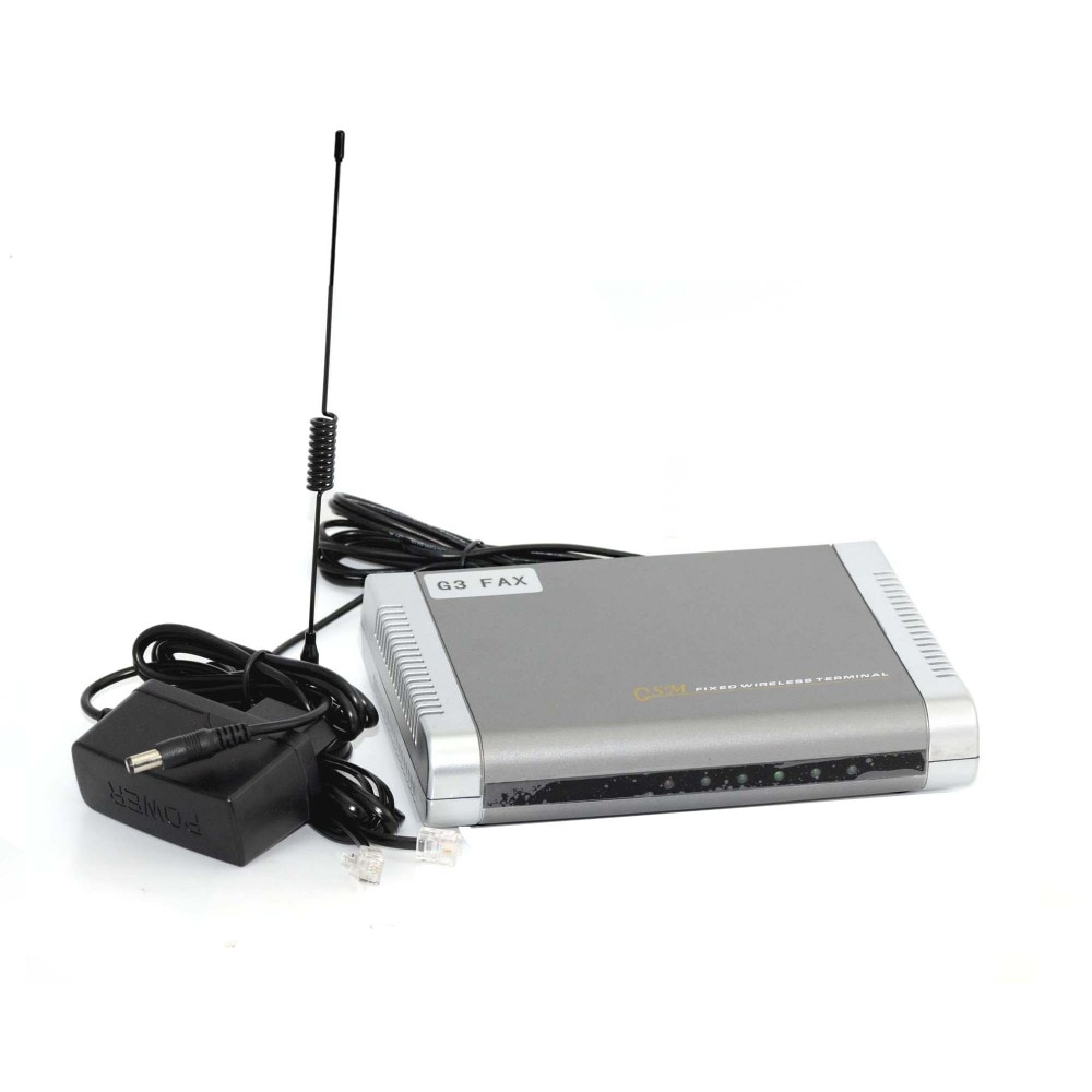 G3 GSM Fax terminal 850/900/1800MHZ Fixed Wireless Terminal Router for wireless fax, voice calling with LCD display enlarge