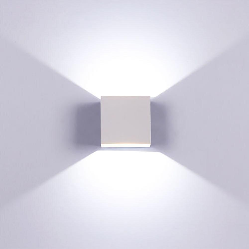 6W LED Einstellbare Wand Lampe Wasserdicht Indoor & Outdoor Aluminium Wand Licht Oberfläche Montiert Cube LED Garten Veranda Licht