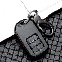 new scrub carbon fiber abs car key case full cover for honda vezel city civic br v hr vcrv pilot accord jazz jade crider odyssey