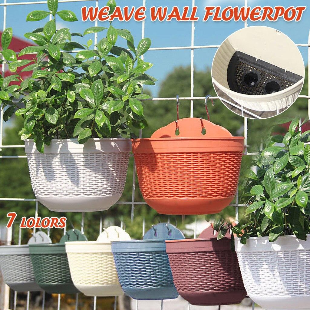 Colgando Macetas cestas De flores De riego pared maceta para planta De...