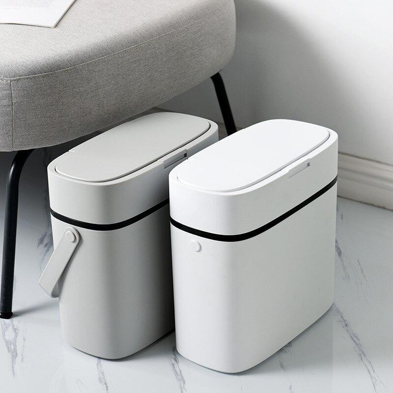 Smart Sensor Trash Can Electronic Automatic Household Bathroom Toilet Waterproof Narrow Seam