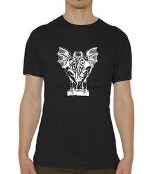 Cthulhu h. p. Camiseta masculina do esboço do horror de lovecraft eldritch