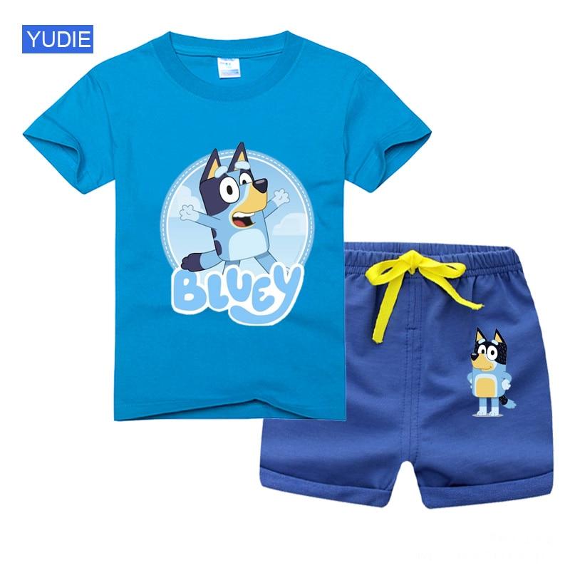 Комплекты одежды для маленьких мальчиков и девочек, футболка с коротким рукавом и шорты, комплект летней детской одежды