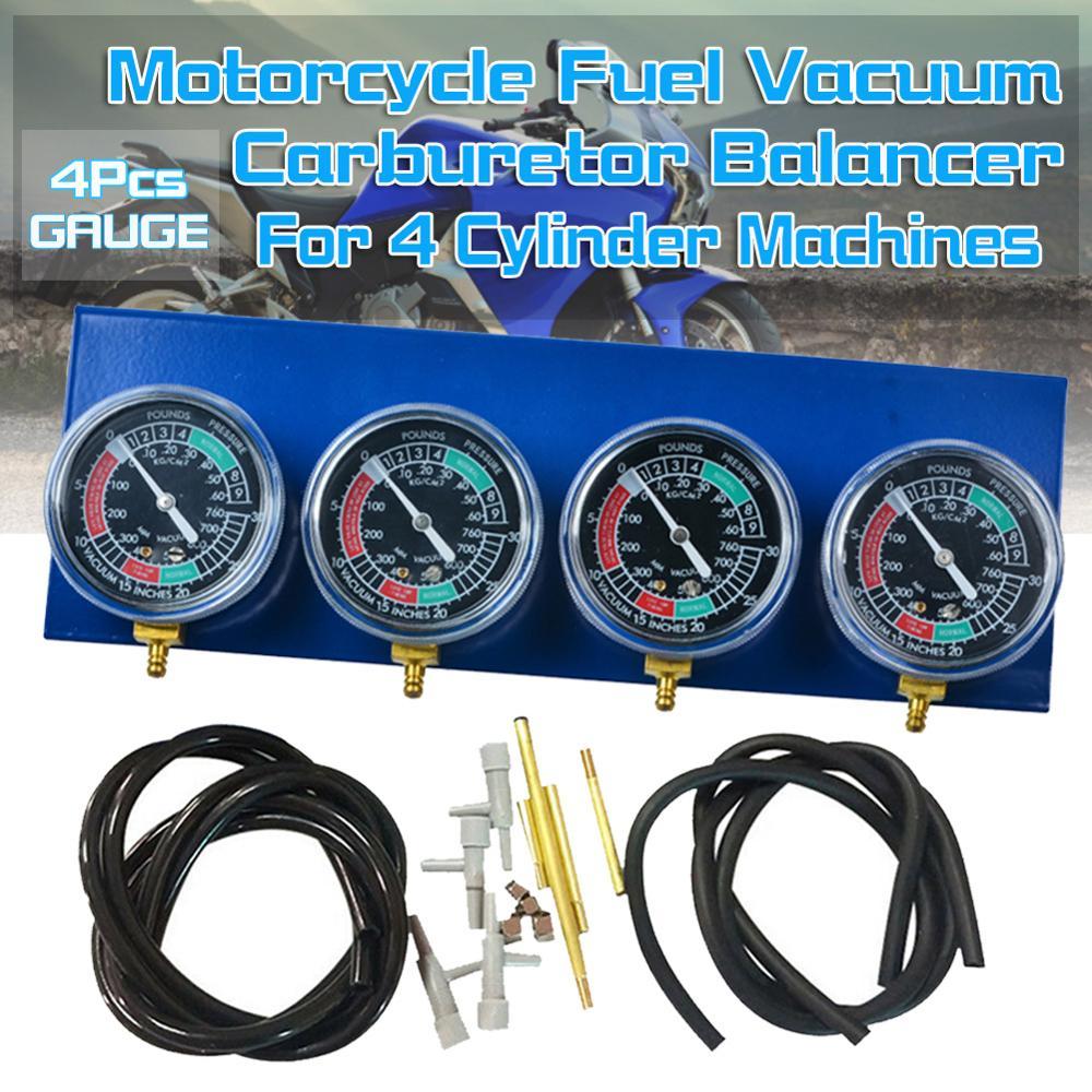 Herramienta sincronizadora de carburador al vacío para motocicleta, calibrador de sincronización con 4 cilindros para motocicleta, carburador, accesorios para motocicletas