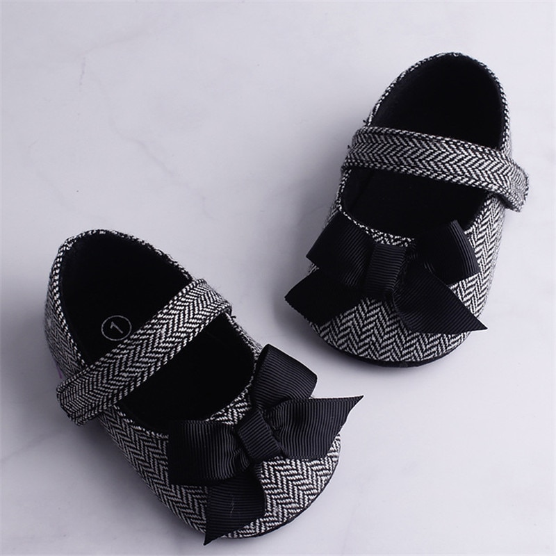 Hot Toddler Girl Crib Shoes Newborn Baby Kids Bowknot Soft Sole Prewalker Infant Lovely Sneakers Fas