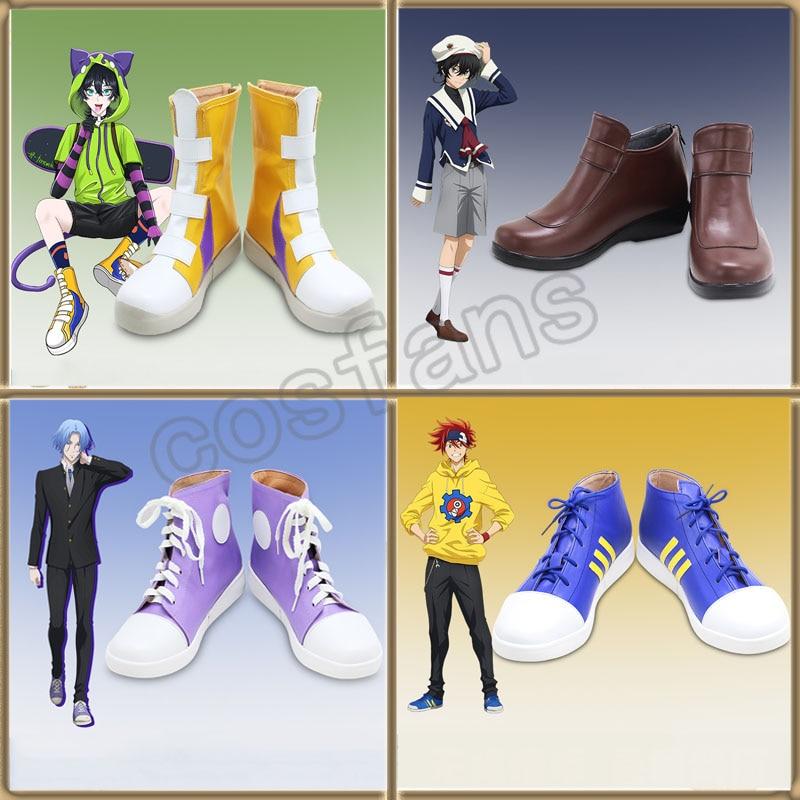 أحذية التأثيرية أنيمي SK ثمانية SK8 إنفينيتي ميا شينين/ريكي/لانغا هاسيغاوا أزياء الهالوين ملابس الحفلات SK ثمانية أحذية