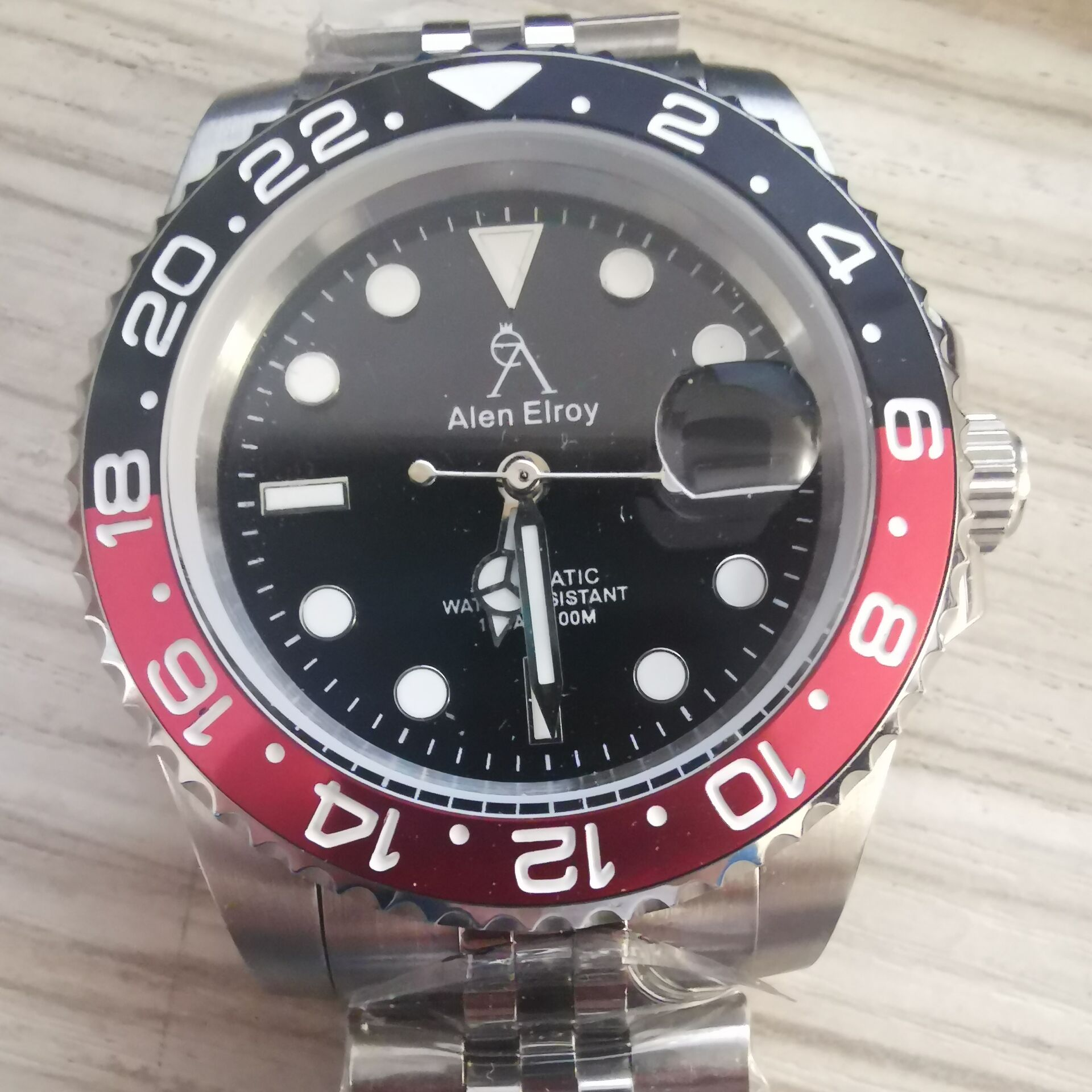AE High-end watches men's automatic U1 factory ceramic bezel sapphire glass luminous needle sweep movement luxury Black sub 01
