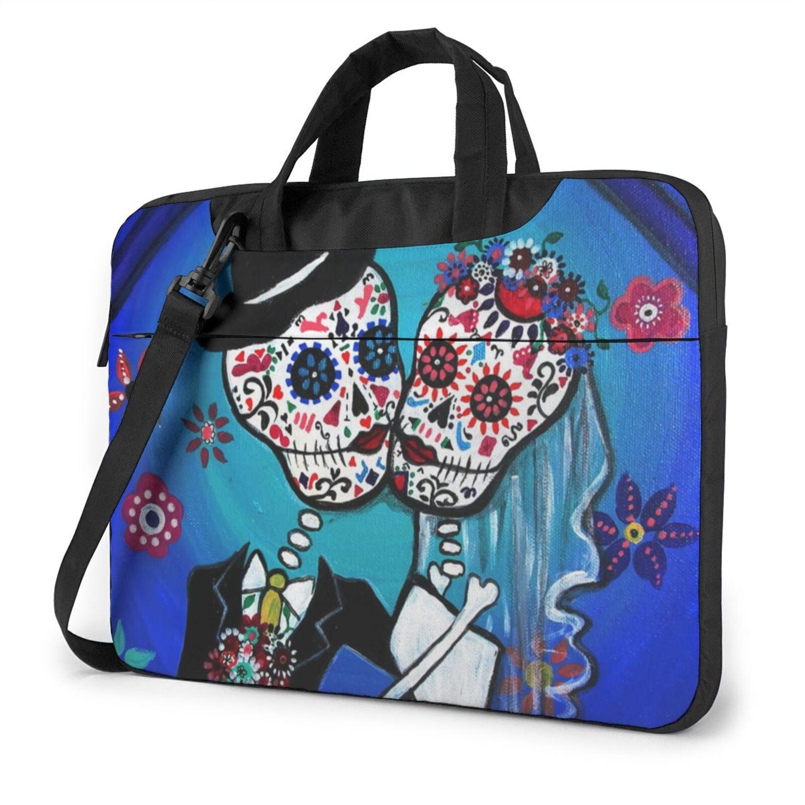 المكسيكي الجمجمة حقيبة لابتوب حقيبة رسول تحمل حقيبة حاسوب الحقيبة أنيق السفر المحمول