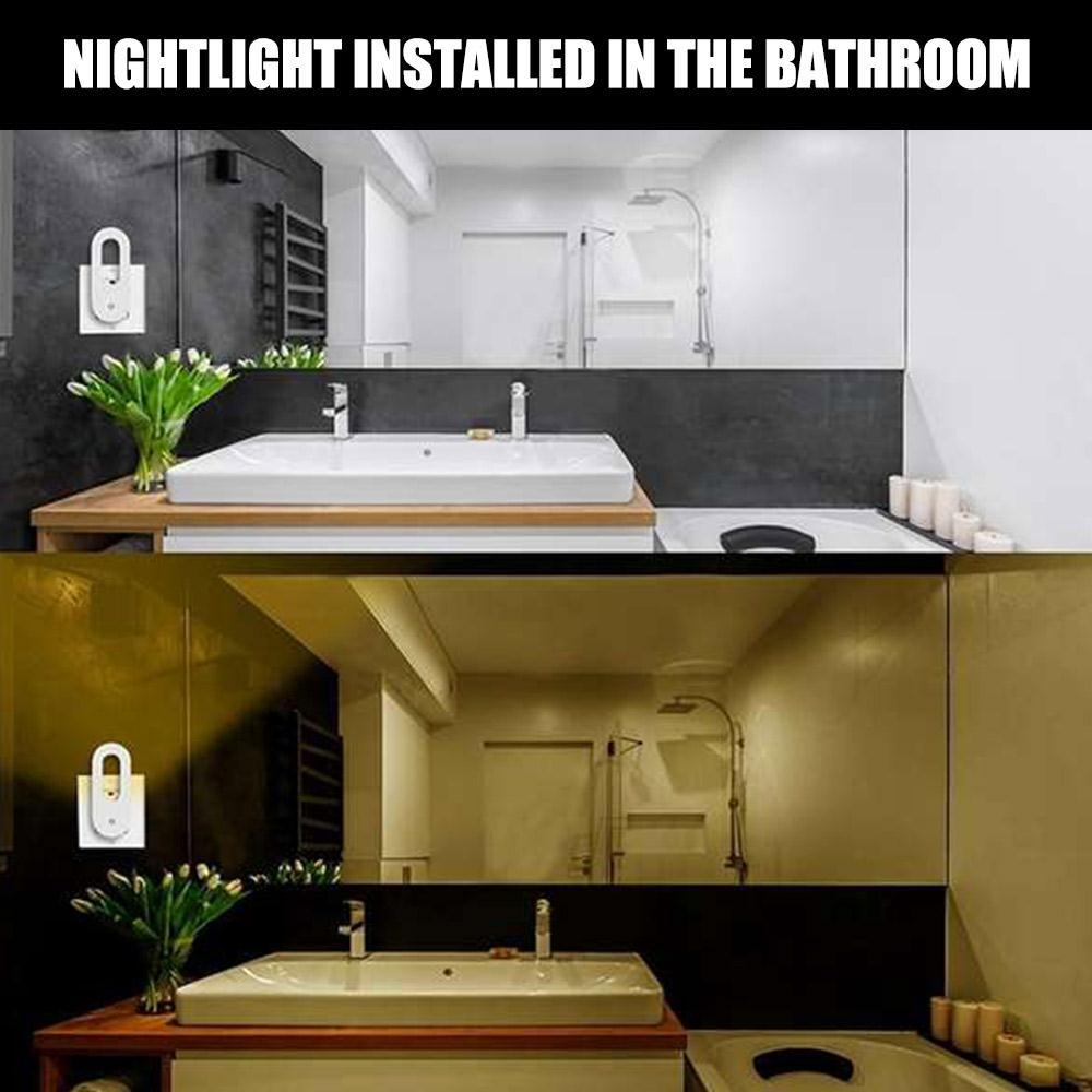 Control con Sensor por inducción luz con Sensor inteligente luz LED de detección de luz automática interior/exterior lámpara de pared regulable para dormitorio