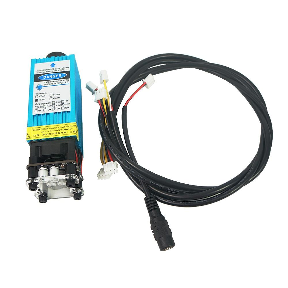 2500mw Laser Module 450NM Focusing Blue Laser Head Laser Engraving Machine Tools 2.5W Laser Tube enlarge