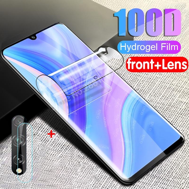 Hidrogel film para huawei protetor de tela da câmera para huawei Y8S Y8P Y 8 P Y 8 P Y8 P vidro película protetora huavei huawe huwei Y8P