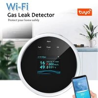 Capteur de gaz naturel Tuya Wifi  detecteur intelligent de fuite de gaz de carburant  alarme domestique avec Assistant Amazon Alexa Google