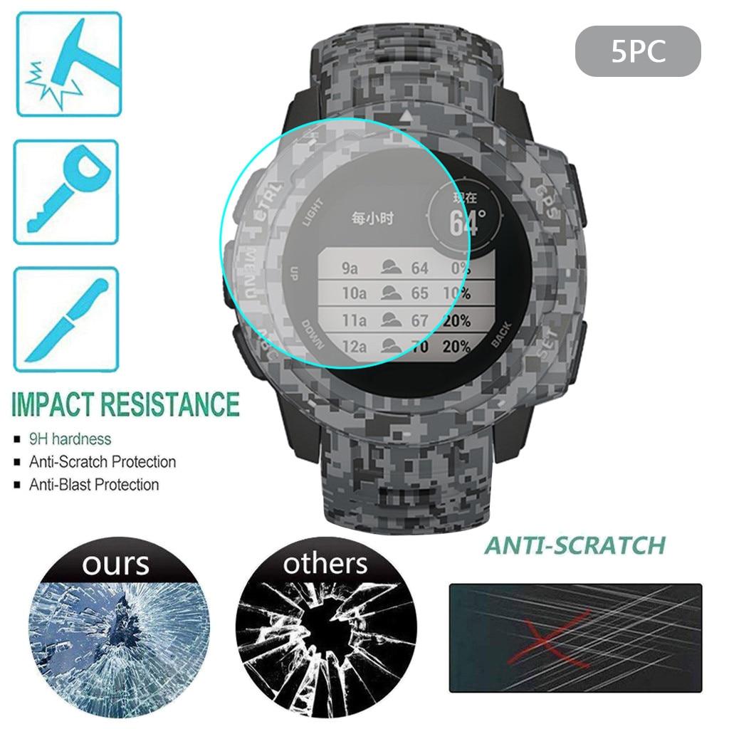 Claro Ultra película protector de pantalla de vidrio templado para Garmin instinto táctico reloj inteligente accesorios instinto táctico cubierta # Y