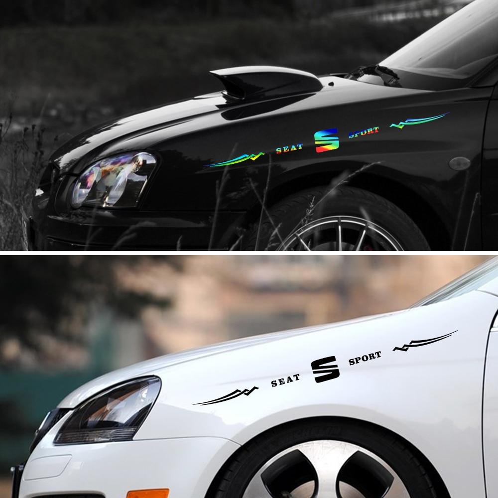 AliExpress - 1pc Car Reflective Laser Vinyl Sticker Decals Car Styling for Seat Leon 5f Ibiza 6l 6j Leon 1p Cushion Altea Xl Leon Mk3 Ibiza f