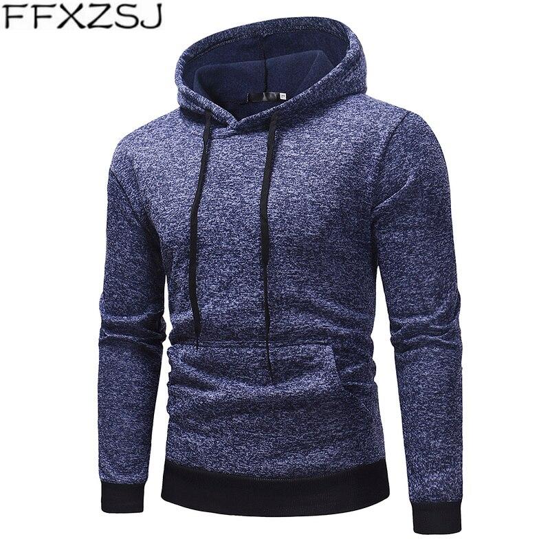 FFXZSJ 2019 sudaderas con capucha de primavera para hombres, sudaderas de diseño de marca de Color sólido, ropa deportiva ajustada, chándal Casual de moda, Dropshipping