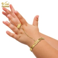 aniid baby bracelet custom bangles copper kids cuff infant adjustable newborn fashion toddler girls boy birthday gift dubai 24k