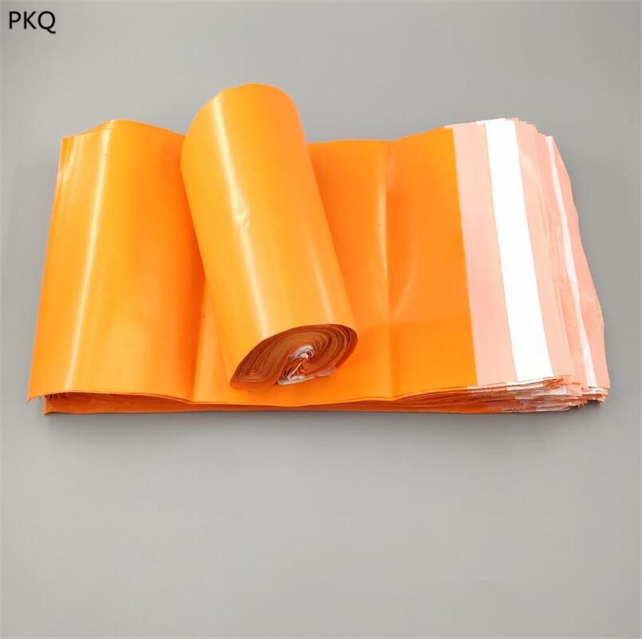 100 Uds./rollo plástico pequeño envío paquete bolsa sobre autoadhesiva bolsa de poliéster 35*45 cm/32*45 cm/30*42 cm/28*42 cm