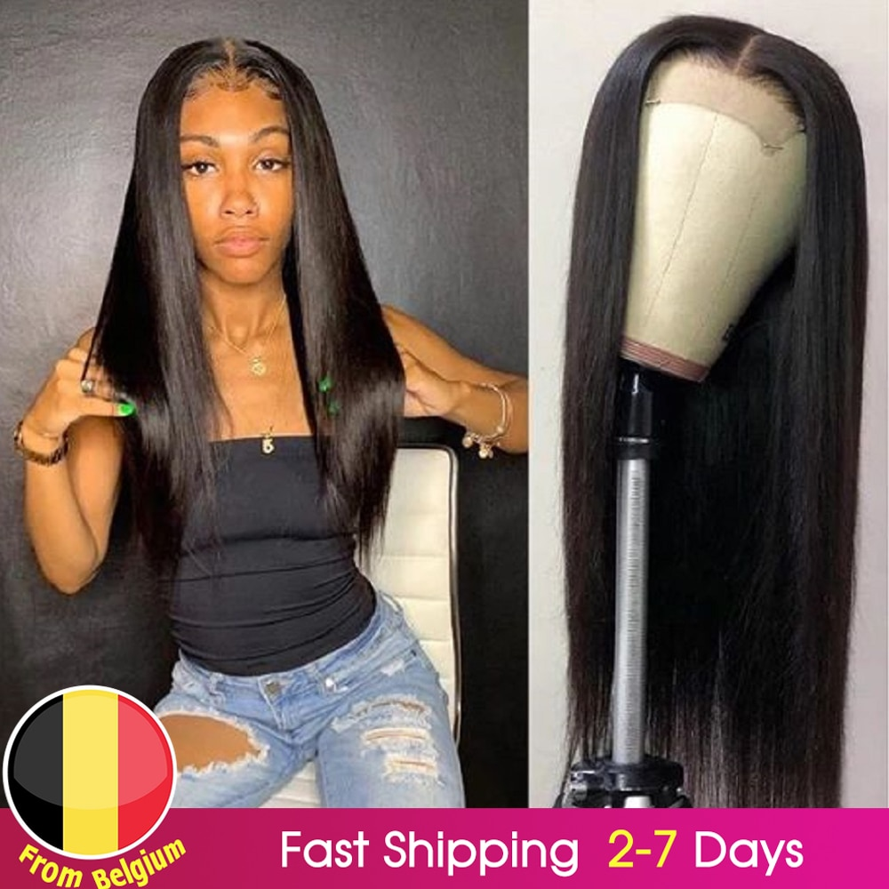 BEAUDIVA Lace Human Hair Wigs Prepluck 13*4 Straight Human Hair Wigs With Baby Hair Bleach Knots 4x4