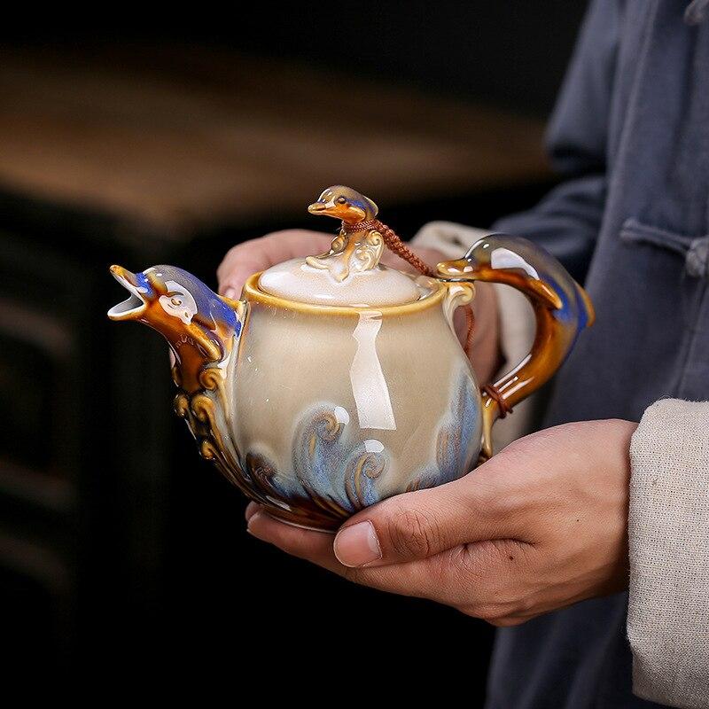 دولفين الضفدع فرن تغيير الصين كوب شاي سيراميك مجموعة الخزف الفخار درينكوير أدوات المائدة بالجملة