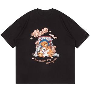 LACIBLE T-Shirts Harajuku Toy Bears Print Short Sleeve Tshirts Streetwear Hip Hop Hipster Summer Casual Cotton Loose Tee Tops