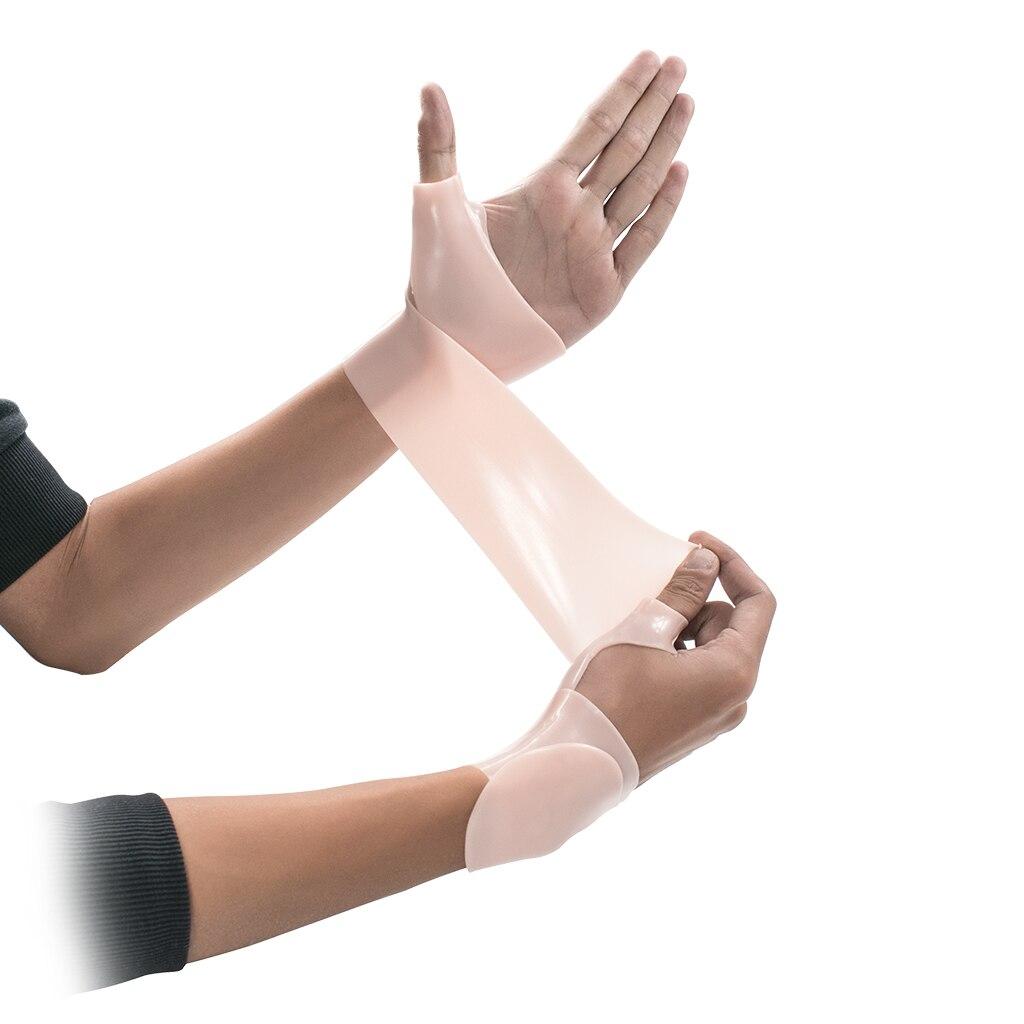 1 pieza de Gel de silicona, guante de soporte para la muñeca para el pulgar, Tenosynovitis, espasmos, envoltura para el cuidado de las manos, espasmos, artritis, abrazadera, envoltura, manga