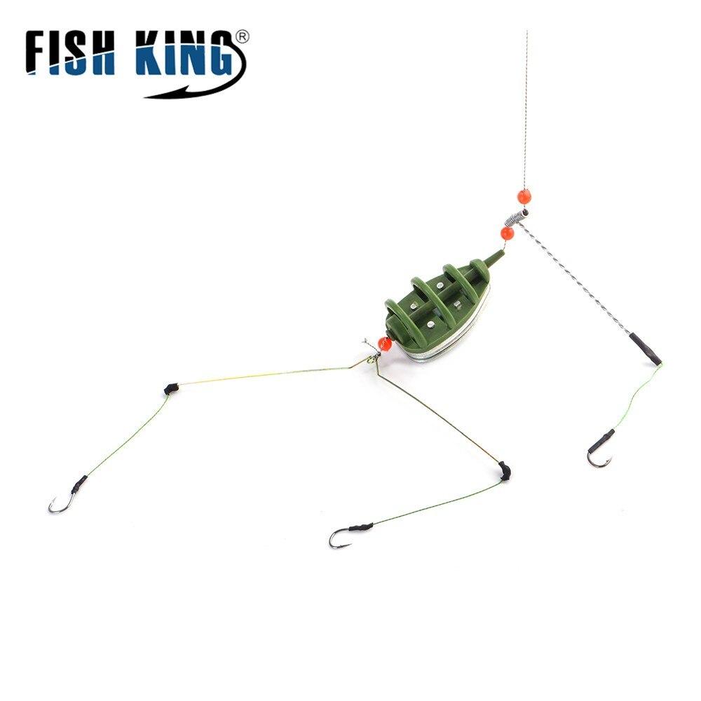FISH KING 30-80g фидер держатель рыболовный аксессуар с свинцовой приманкой клетка встроенный крючок метод приманки для рыболовных снастей