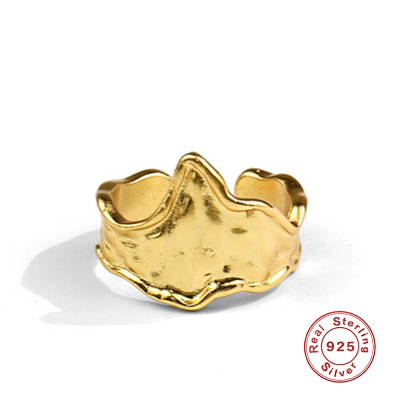 Женское кольцо из серебра 925 пробы, глянцевое, золотистое/серебристое