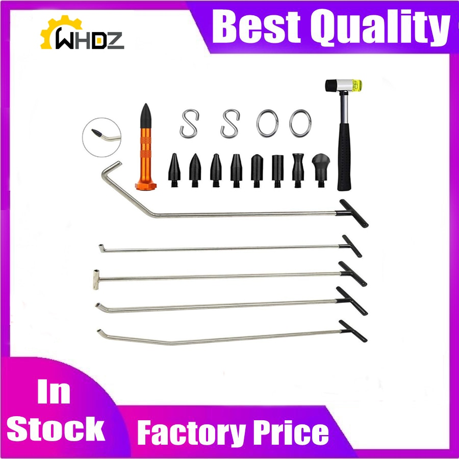 Tools Hook Tools Push Rod Black Car Crowbar Paintless Dent Repair Tools tap down S hooks Ding Hail Puller Set
