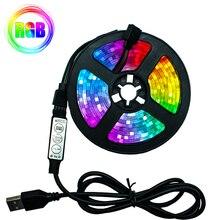 Striscia LED lampada flessibile 1M 2M 3M 4M 5M diodo a nastro SMD 2835 DC5V schermo da scrivania TV sfondo illuminazione cavo USB 3 controllo chiave