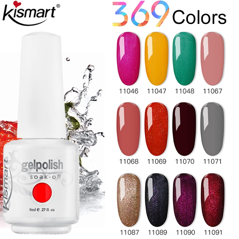Kismart 369 Colors Gel nail polish Varnish Hybrid nail supplies for professionals Semi permanent Art Soak Off UV LED Gel Lacquer