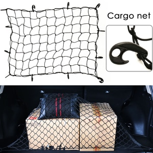 Universal Car Trunk Luggage Storage Cargo Organiser Nets 120x90cm Elastic Mesh Net with Hooks Auto Interior Accessories