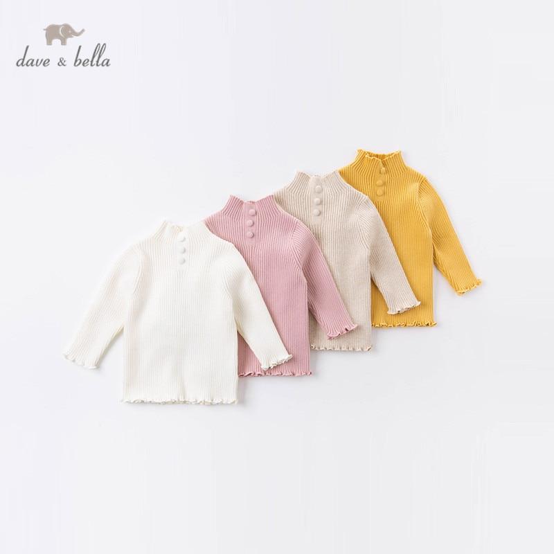 DB15393 dave bella/зимний модный однотонный вязаный свитер унисекс для малышей модные эксклюзивные топы для малышей|Свитера| | АлиЭкспресс