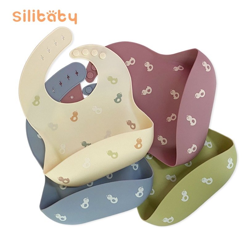 Силиконовый слюнявчик водонепроницаемый мягкий силиконовый слюнявчик для кормления новорожденных слюнявчик капающий съедобный нагрудни...
