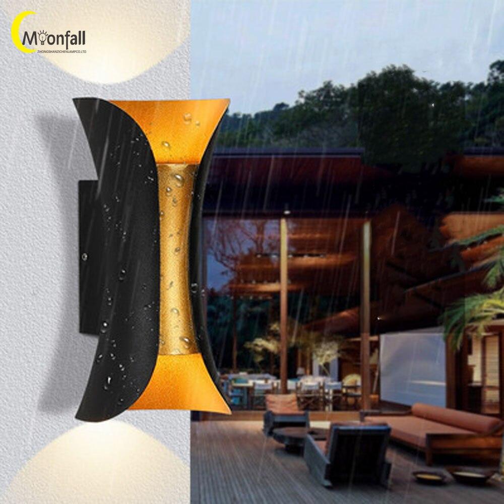Cmoonfall LED nórdico al aire libre iluminación lámparas de Pared Buitenverlichting Tuinverlichting...