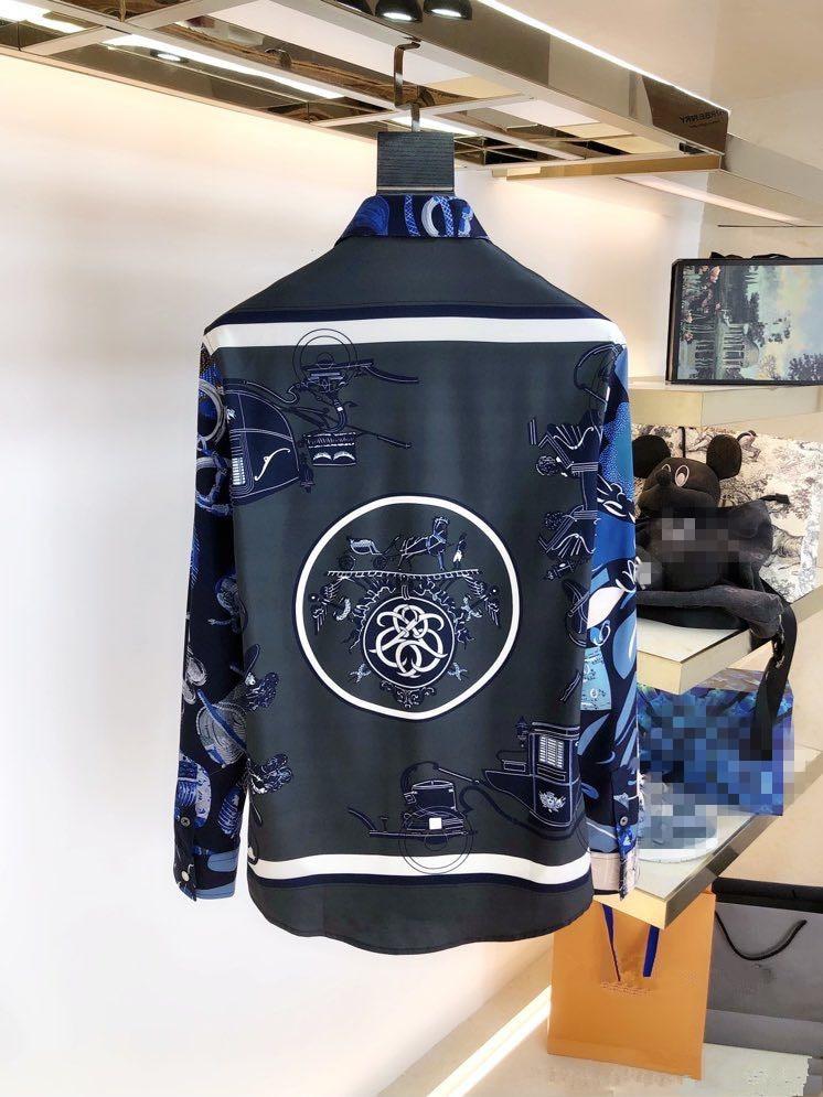 قمصان YK11745 موضة 2021 المدرج الفاخرة العلامة التجارية الشهيرة الأوروبية تصميم نمط حفلة ملابس للرجال