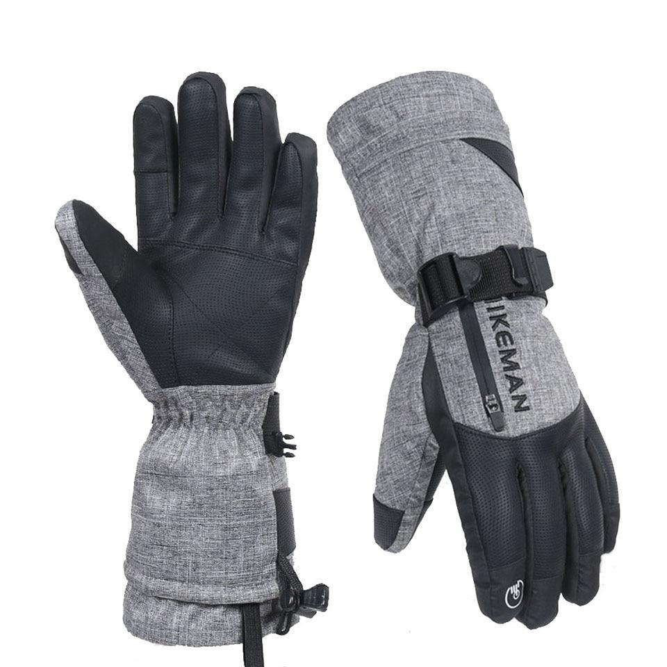 Новые мужские и женские зимние лыжные рандомные теплые водонепроницаемые спортивные перчатки Велоспорт Сноубординг сенсорный экран лыжны...